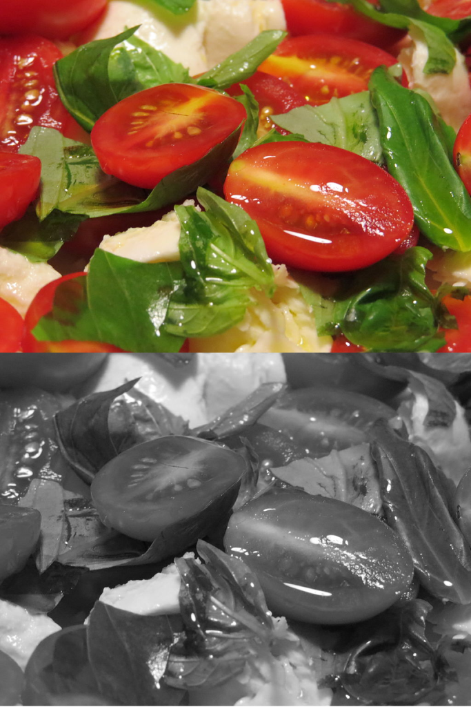Caprese_cherry_tomatoesBWColourComparison